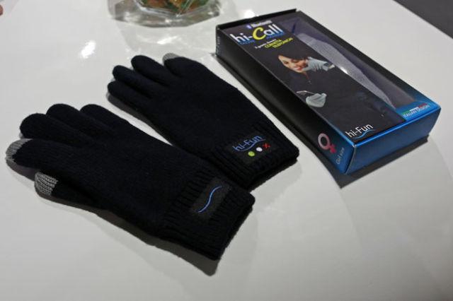 Bluetooth Handset Built into Gloves
