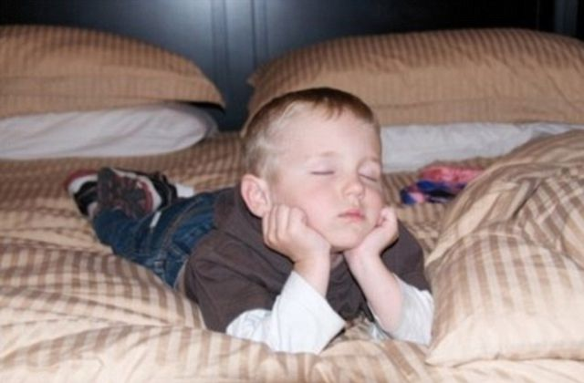 Funny and Awkward Kid Sleeping Positions