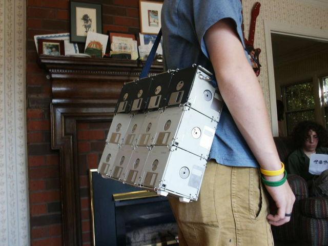 Hipster Fashion at Its Best: A Floppy Disk Bag