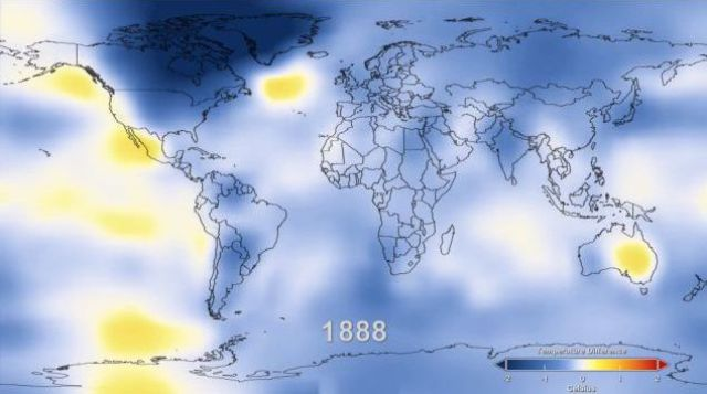 Global Surface Temperature Rise from 1880 till Now