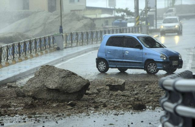 Devastating Typhoon with Winds So Strong That They Sent Rocks Flying
