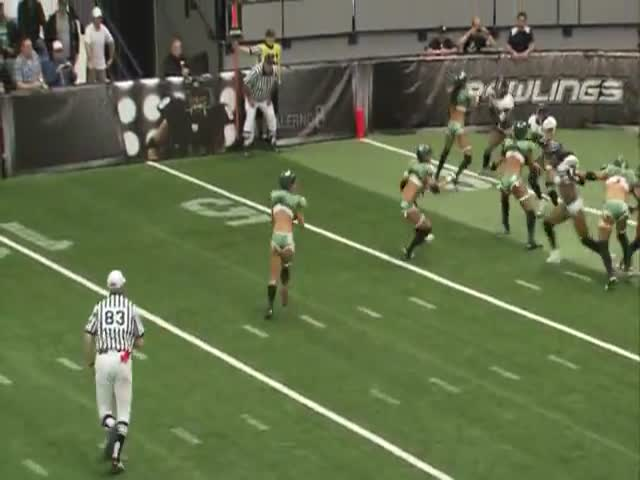 Player Destroys Opponent at Lingerie Football League