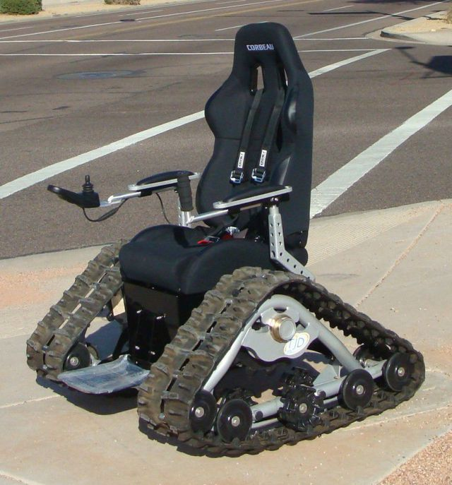 5 Off-road Tank Wheelchair : wheel chair with tracks - Cheerinfomania.Com