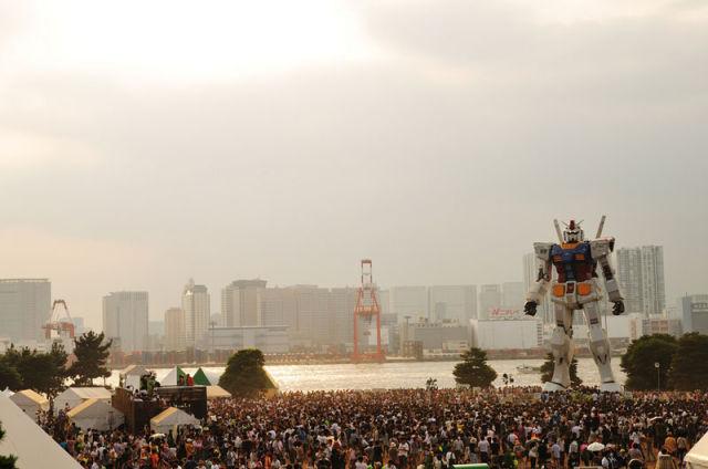 Full-Scale Gundam Model in Tokyo