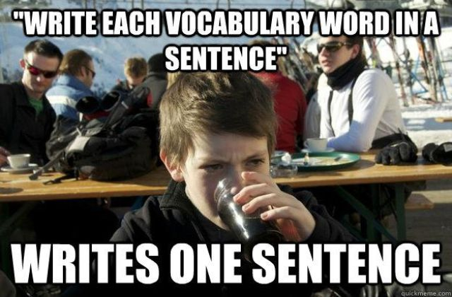 """Funny Collection of """"Lazy Elementary School Student"""" Meme"""