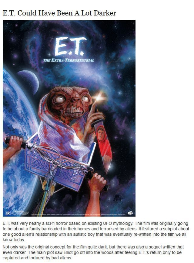 Some Facts about E.T. You Probably Didn't Know