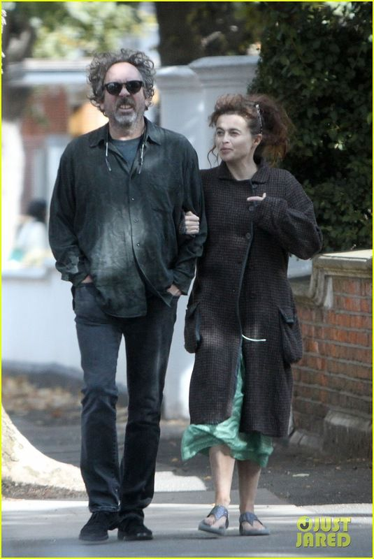 Helena Bonham Carter and Tim Burton Take a Stroll in London