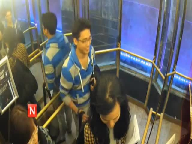 2 Guys Take Control of an Elevator and Mess around with People