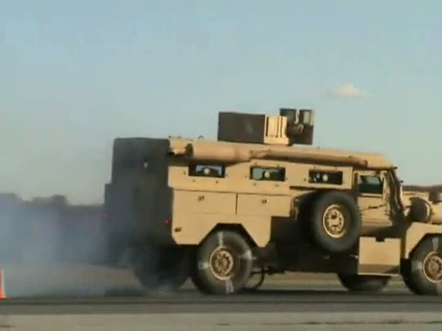 Military Vehicle Brake Test at 60mph