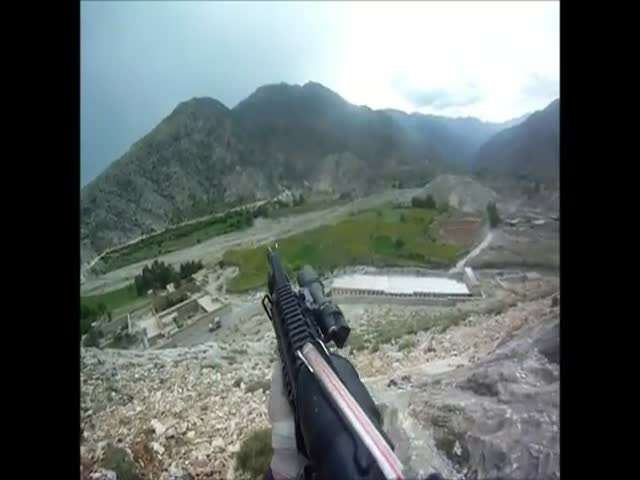 US Soldier Survives Taliban Machine Gun Shots – Helmet Cam POV