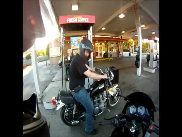 A Very Bad Day at the Gas Station
