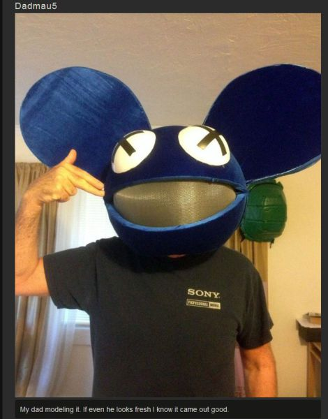 DIY Dedmau5 Halloween Costume with Lights