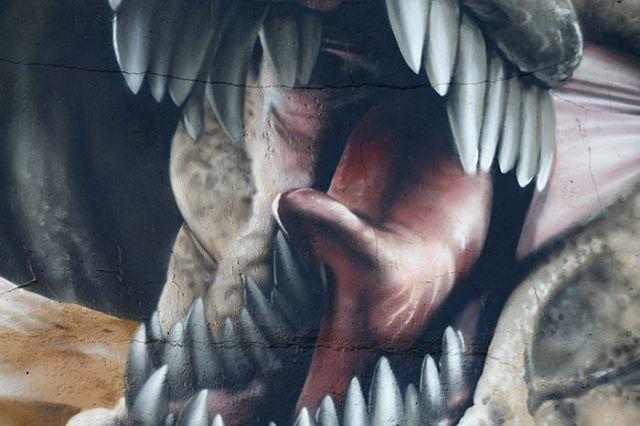 Impressive 3D Jurassic Park Wall Art