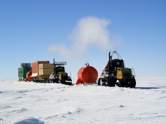 Isolated Research Station in Icy Desert
