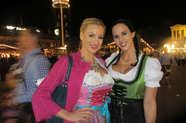 Bosomy Blonde, Jordan Carver, at Oktoberfest