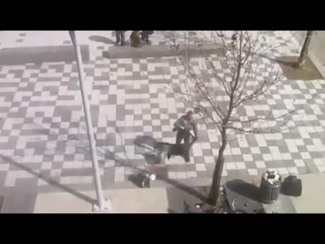 Random Guy Sucker Punches Asshole Annoying a Family