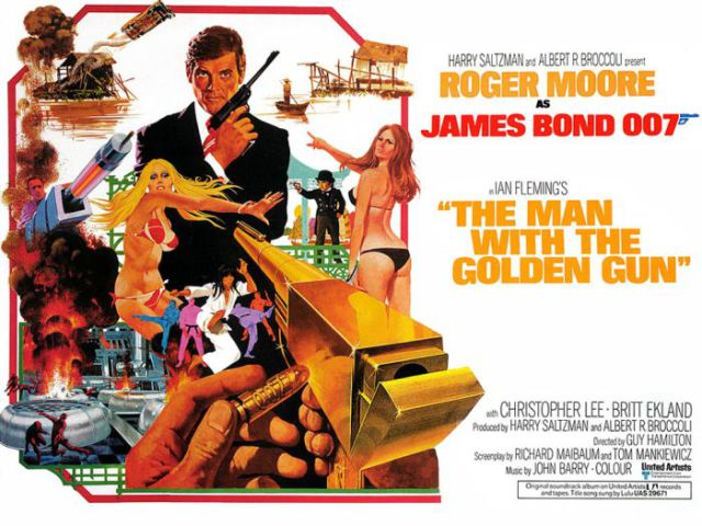 James Bond Movie Posters throughout the Years