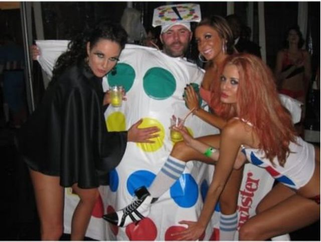 Twister Halloween Costume Gets the Girls in Knots