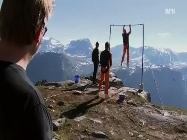 High Bar Base Jumpimg Can't Be a Good Idea