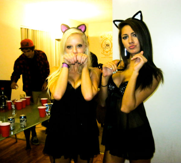 College Girls Choose Claws and Cuffs For Sexy Dress Up!
