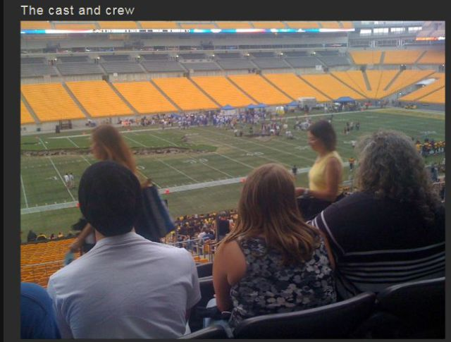 "Front Row Seats for the Making of ""The Dark Knight Rises"" Stadium Scene"