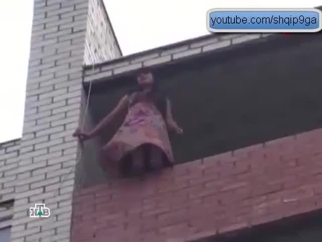 Ninja Firefighter's Crazy Way of Saving a Suicidal Girl