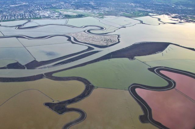 Colourful Salt Ponds Are Nature's Own Art