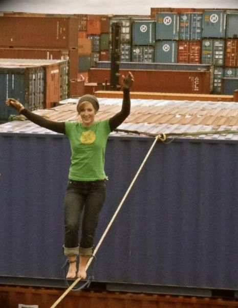 Are You This Brave? Or Gutsy Girl Sets Tightrope Record!