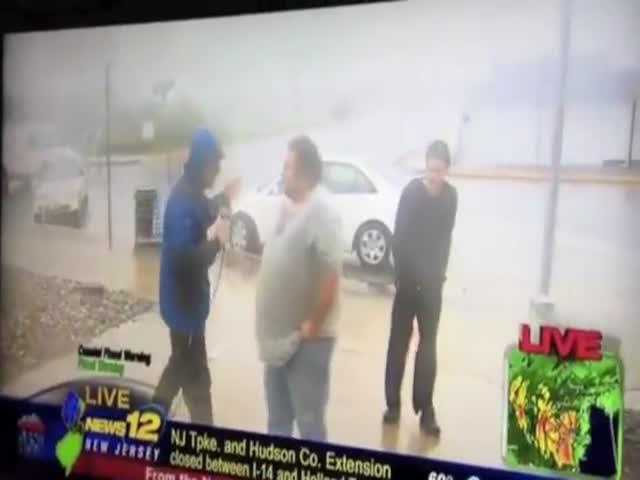 Hurricane Sandy News Blooper Compilation