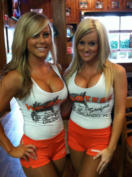 Busty hooters girls