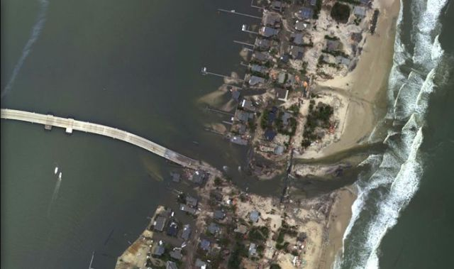 Aerial Photos of Hurricane Sandy Show Before and After Shots