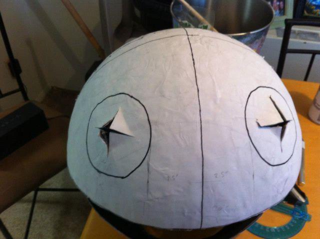 DIY Halloween Head Construction