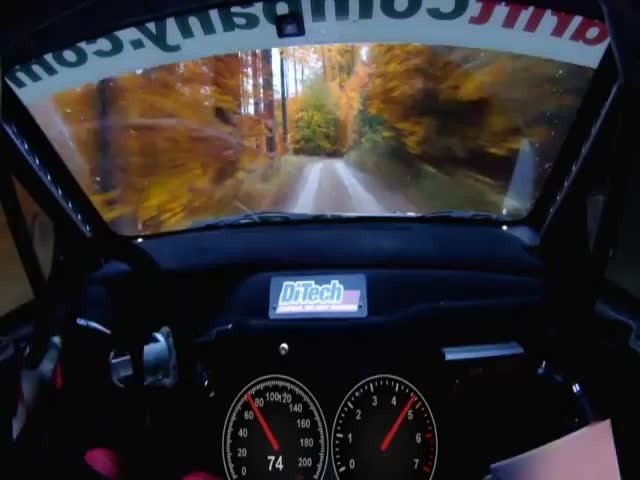 Going Insanely Fast on a Forest Rally Track – Up to 206 km/h!