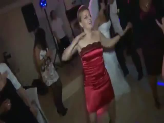 Funny Dancing Girl at a Wedding