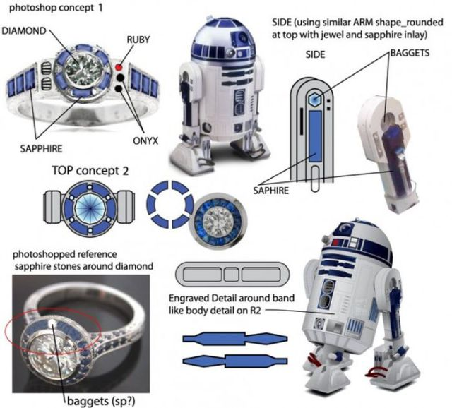 Geeky but Beautiful, Star Wars Engagement Ring!