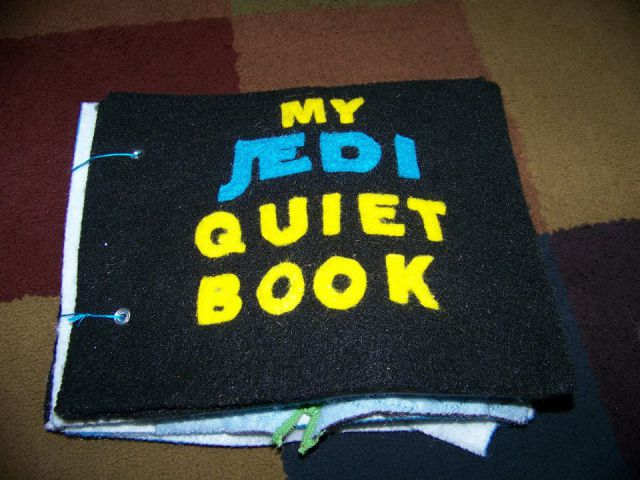 "Homemade Jedi ""Quiet Book"" for Kids"