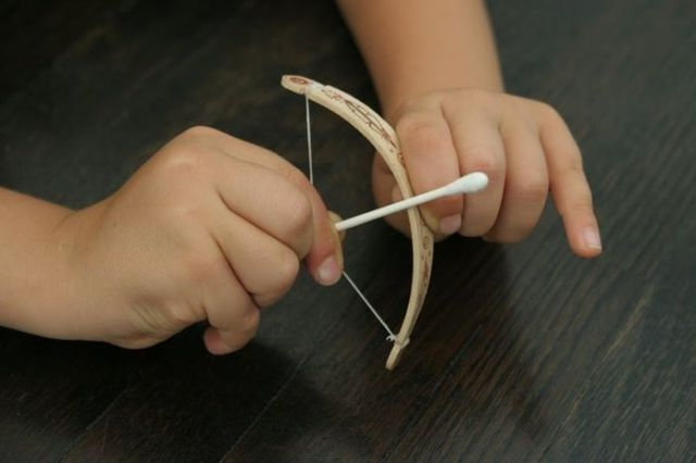 Turn a Simple Popsicle Stick Into a Cool Bow and Arrow Set