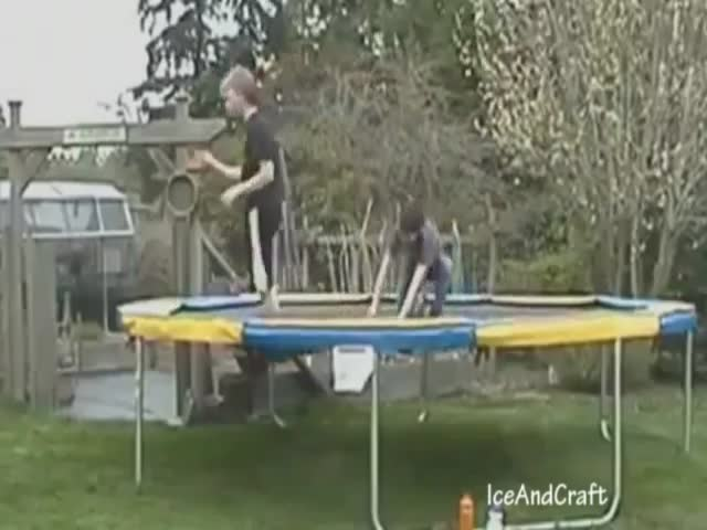Trampoline Fail Compilation 2012