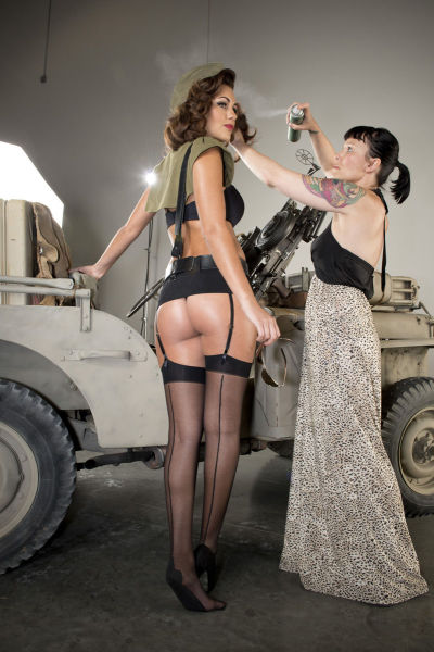 1950s Inspired Glamour in the 2013 Hot Shots Calendar