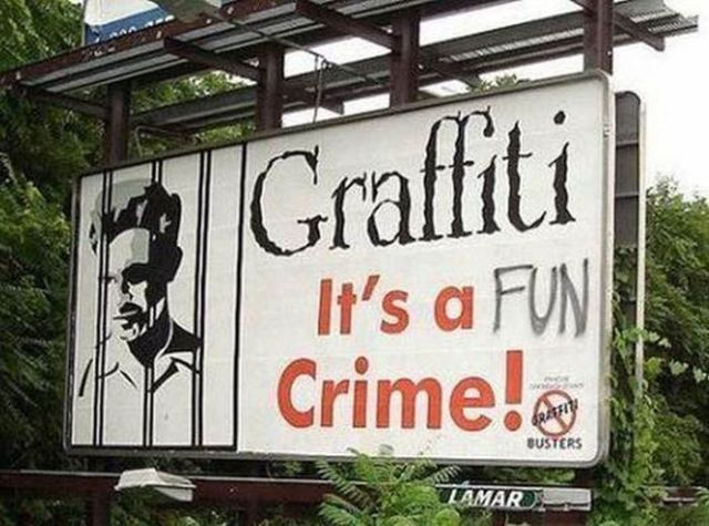 Graffiti Gives These Billboards A New Meaning…