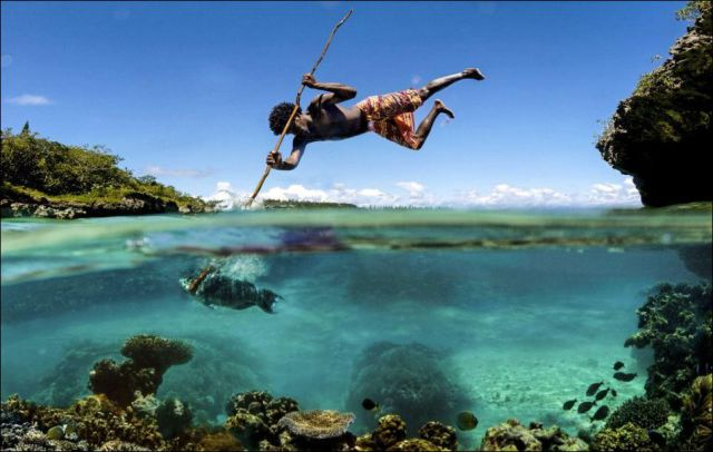 A Truly Authentic Spear Fishing Technique