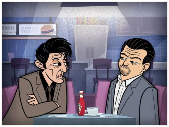 Cartoon Versions of TV Shows and Movies
