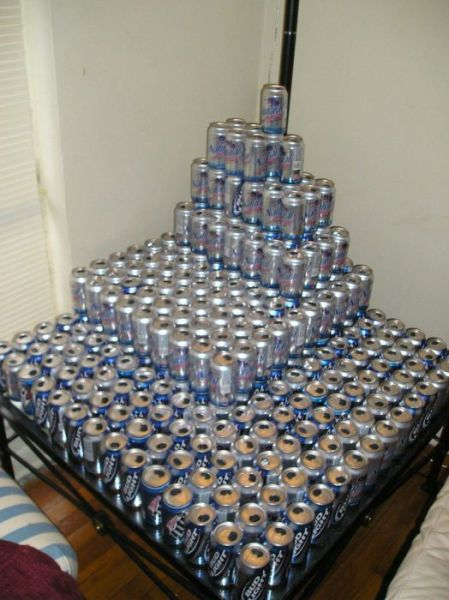 "Cool Beer Can, Pyramid or ""Beer-amid"""