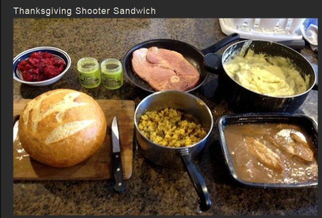 "How to Guide: the Perfect Thanksgiving ""Shooter Sandwich"""