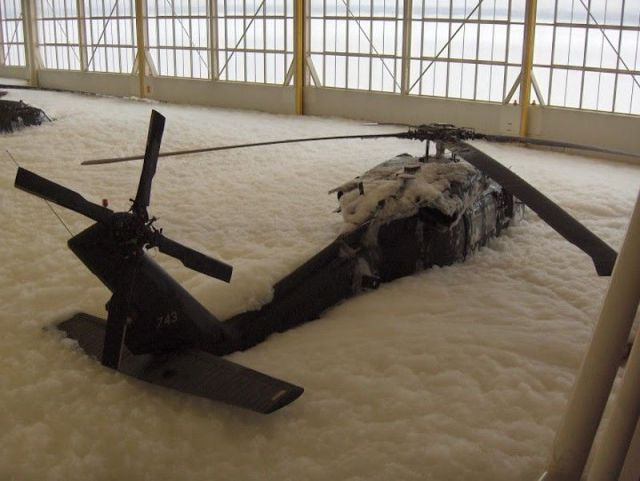 "The ""Black Hawk"" Goes Down in a Sea of Foam"
