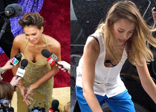 Celebrities Rock Plunging Necklines
