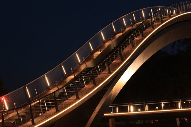 This High, Pedestrian Bridge Offers Spectacular Views