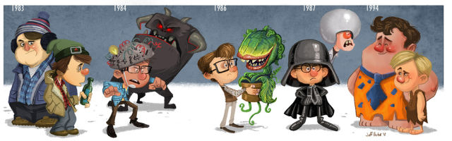An Animated Timeline of Movie Stars