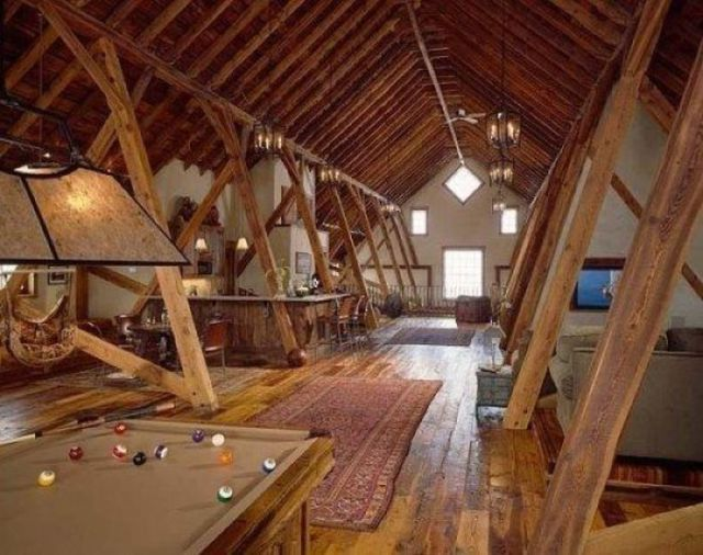 Attic rooms that have been transformed into amazing spaces 31 pics - Attic bedroom design ideas with wooden flooring ...