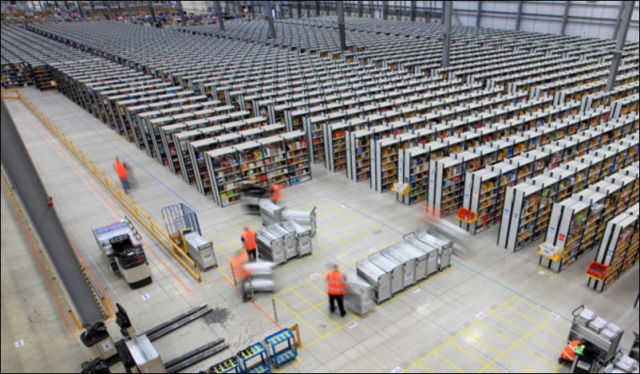 Inside the Enormous Amazon Warehouses
